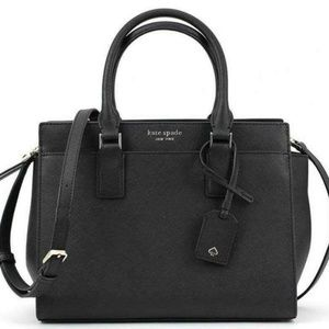 Medium Satchel Cameron Kate Spade Black NWT